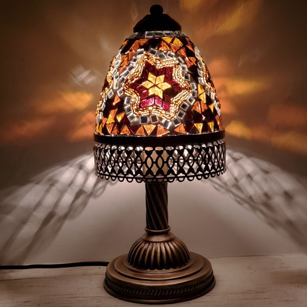 Amber Color Table Lamps RTL